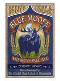 Minnesota - Blue Moose Pale Ale Plakater af  Lantern Press