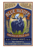 Minnesota - Blue Moose Pale Ale Prints by  Lantern Press