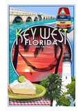 Key West, Florida - Montage Lámina por Lantern Press