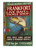 Frankfort, Michigan - Trout Tackle Shop Posters by  Lantern Press