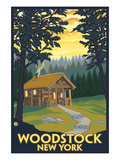 Woodstock, New York - Cabin Scene Prints by  Lantern Press