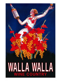 Woman with Bottle - Walla Walla, Washington Prints by Lantern Press