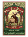 Sault Ste. Marie, Michigan - Elk Pale Ale Prints by Lantern Press