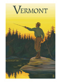 Vermont - Fisherman Poster by Lantern Press