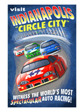 Indianapolis, Indiana - Indianapolis &quot;Circle City&quot; Posters by Lantern Press 
