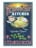 Mount Dora, Florida - Key Lime Pie Sign Print by  Lantern Press