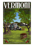 Vermont - Cherry Harvest Print by  Lantern Press