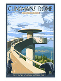 Clingmans Dome - Great Smoky Mountains National Park, TN Affiches par  Lantern Press