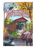 Meredith, New Hampshire - Montage Scenes Prints by Lantern Press