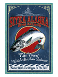 Sitka, Alaska - King Salmon Prints by  Lantern Press