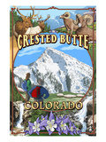 Crested Butte, Colorado Montage Prints by  Lantern Press