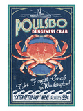 Poulsbo, Washington - Dungeness Crab Posters by  Lantern Press