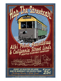 Seattle, Washington - West Seattle Streetcar Posters by  Lantern Press