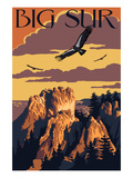Big Sur, California - Condors Reproduction giclée Premium par  Lantern Press
