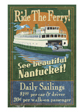 Nantucket, Massachusetts - Ferry Ride Print by  Lantern Press