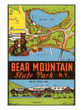 Bear Mountain State Park - Vintage Window Decal Prints by Lantern Press