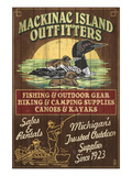 Mackinac Island, Michigan - Loon Outfitters Poster par  Lantern Press