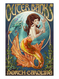 Mermaid - Outer Banks, North Carolina Prints by  Lantern Press