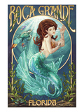 Boca Grande, Florida - Mermaid Prints by Lantern Press