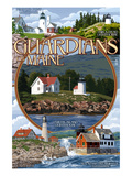 Guardians of Maine - Curtis Island Center Posters by  Lantern Press