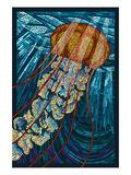 Jellyfish - Paper Mosaic Poster von  Lantern Press