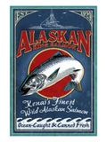 Kenai River, Alaska - Salmon Prints by  Lantern Press