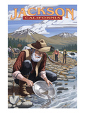 Gold Miners - Jackson, California Posters by Lantern Press