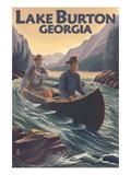 Lake Burton, Georgia - Canoe in Rapids Posters by  Lantern Press