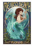 Mexico Beach, Florida - Mermaid Prints by  Lantern Press