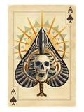 Ace of Spades - Playing Card Lámina por Lantern Press