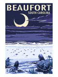 Beaufort, South Carolina - Sea Turtles Hatching Poster by Lantern Press