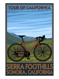 Sonora, California - Bicycle Tour of California Prints by  Lantern Press