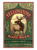Yellowstone National Park - Elk Root Beer Láminas por Lantern Press