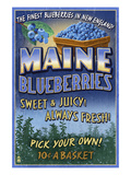 Maine Blueberries Poster von  Lantern Press