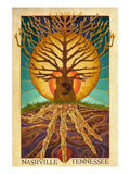 Nashville, Tennessee - Guitar Tree Posters par  Lantern Press