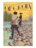 Georgia - Women Fishing Posters by  Lantern Press