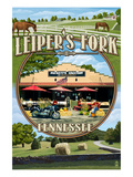 Leiper's Fork, Tennessee - Montage Scenes Poster by  Lantern Press