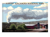 Volcano House - Hawaii Volcanoes National Park Poster by  Lantern Press