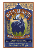 Blue Moose - Northwest Pale Ale Posters by Lantern Press