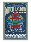 Dutch Island, Georgia - Blue Crabs Posters by Lantern Press