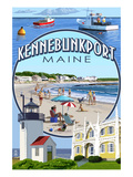 Kennebunkport, Maine - Montage Scenes Prints by  Lantern Press
