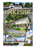 Lakeside, Ohio - Montage Scenes Posters by  Lantern Press