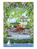 Mackinac, Michigan - Montage Scenes Posters by Lantern Press