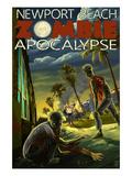 Newport Beach, California - Zombie Apocalypse Posters by  Lantern Press