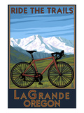 Lagrande, Oregon - Ride the Trails, Mountain Bike Posters by  Lantern Press