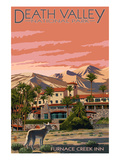 Furnace Creek Inn - Death Valley National Park Art by  Lantern Press
