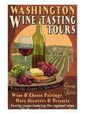 Washington Wine Tasting Affiches par  Lantern Press