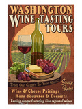 Washington Wine Tasting Prints by  Lantern Press