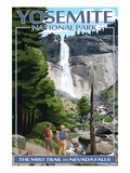 The Mist Trail - Yosemite National Park, California Prints by  Lantern Press