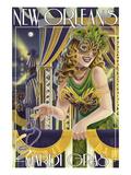 Lantern Press - Mardi Gras - New Orleans, Louisiana - Poster